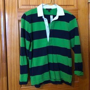 J CREW Rugby stripe polo shirt (Size M) New